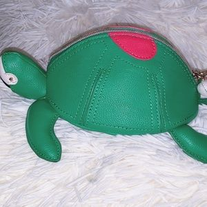Betsy Johnson Turtle Y Awesome Coin Pouch